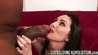 sleazy hot babe sucking his cock in camsock, cumshot dripping - Brazzers porno