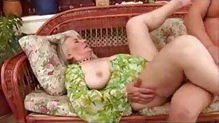 Horny Granny in stockings gets fucked - Brazzers porno