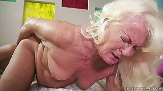 Granny girlfriend fucks her man hard - Brazzers porno