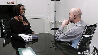 Sexy Little BBW at the office - Brazzers porno