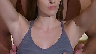 Personal coach bangs slim brunette - Brazzers porno