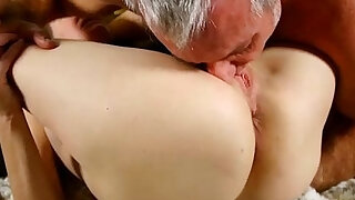 Super horny old spunker sucks on cock and fucking her soaking wet pussy - Brazzers porno