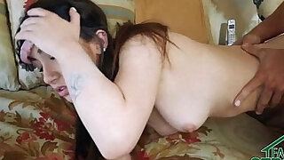 Teen anal Fucked By Her Step Brother And Boyfriend Blindfolded - Brazzers porno