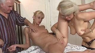His GF and parents in hot threesome - Brazzers porno