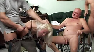 Rough gangbang with an old guy - Brazzers porno