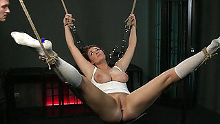 BDSM XXX Beautiful girls are Shackled before pleasing their Masters - Brazzers porno