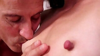 babe playing around with his hard nipples - Brazzers porno