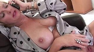 Naughty mature lady masturbating - Brazzers porno