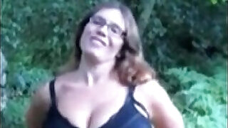 pawg milking in the woods - Brazzers porno