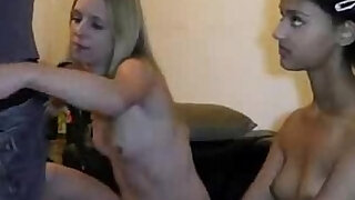 Hot German Threesome on tape with Two Slim Teens Cum on Her Face - Brazzers porno