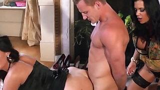 Super glam cfnm babes tie up dude - Brazzers porno