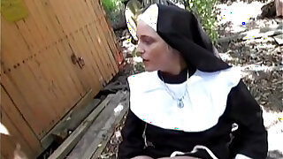 Naughty german nun loves cock - Brazzers porno