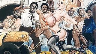 Slaves in bondage bdsm cartoon art - Brazzers porno