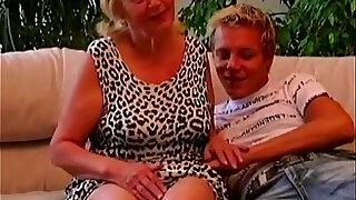 Teen boy seduced plump granny - Brazzers porno