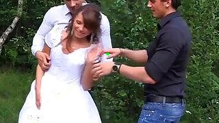 The bride fuck by three guy - Brazzers porno