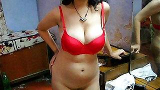 Bengali Indian Sexy Savita In Red Lingerie - Brazzers porno