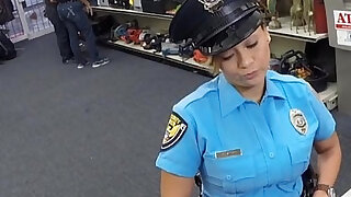 Ms Police Officer with boobs got fucked hard anal sex with pawn man - Brazzers porno