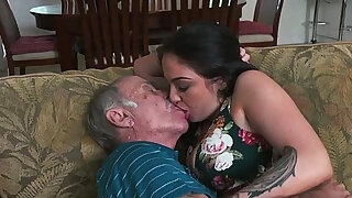Old men order escort youngster for sex - Brazzers porno