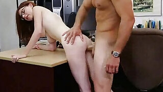 Geeky brunette babe getting ass fucked at the pawn shop - Brazzers porno