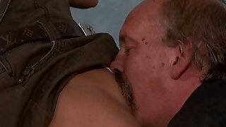 He leaves and old dad licks and fucks his GF pussy - Brazzers porno