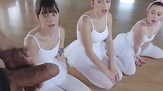 Three Teen Ballerinas Fucked By Big Cock POV - Brazzers porno