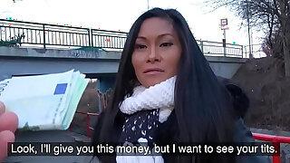 Public Agent Hot Thai beauty fucked hard in horny gas station toilet fuck - Brazzers porno