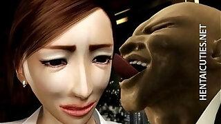 3D hentai MILF gets tits tortured - Brazzers porno