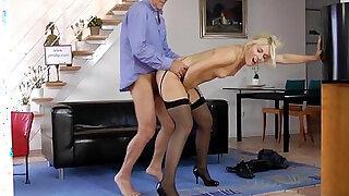 Tall euro beauty loves pleasuring geriatric - Brazzers porno