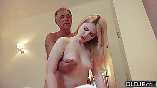 Mother Dagny rides and fucks grandpas cock - Brazzers porno