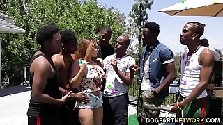 My first interracial gangbang - Brazzers porno